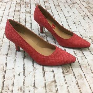 Karen Scott Clancy Snake Print Textured Red Heel